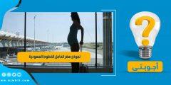 نموذج سفر الحامل الخطوط السعودية pdf